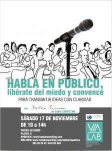 Taller de hablar en público el sábado 17 de noviembre en Valladolid